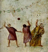 romans playing harpustum